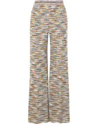 Missoni - Crochet-knit Wide-leg Pants - Lyst