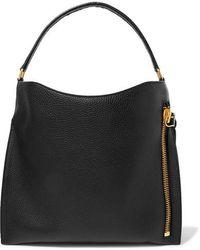 Tom Ford Alix Medium Textured-leather Tote - Black