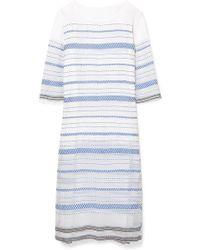 lemlem - Tiki Embroidered Cotton-blend Gauze Midi Dress - Lyst