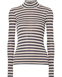 Nanushka - Alana Striped Modal Turtleneck Sweater - Lyst