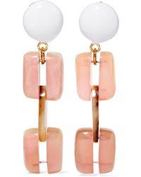 Marni - Gold-tone Resin Clip Earrings - Lyst