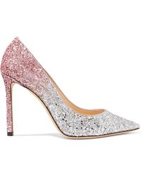 Jimmy Choo - Romy 100 Dégradé Glittered Leather Pumps - Lyst