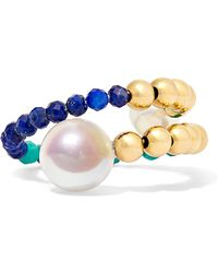 Lucy Folk - Ettore Blues Gold Multi-stone Ring - Lyst