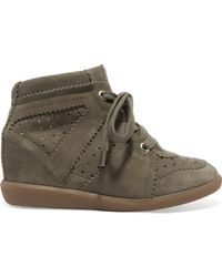 Isabel Marant - Étoile Bobby Suede Wedge Trainers - Lyst