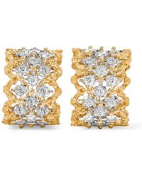 Buccellati | Rombi 18-karat Yellow And White Gold Diamond Earrings | Lyst