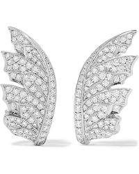 Stephen Webster | Magnipheasant 18-karat White Gold Diamond Earrings | Lyst