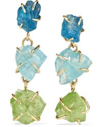 Melissa Joy Manning - 14-karat Gold, Apatite And Peridot Earrings - Lyst