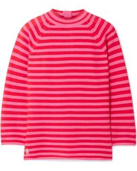 Marc Jacobs | Striped Cotton-blend Sweater | Lyst