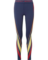 Perfect Moment - Printed Stretch Leggings - Lyst