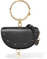 Chloé - Nile Bracelet Mini Textured-leather Shoulder Bag - Lyst