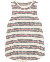 Madewell - Dries Striped Ribbed Cotton-blend Tank - Lyst
