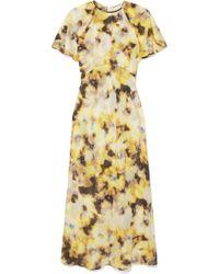 Georgia Alice - Acid Floral-print Cotton And Silk-blend Organza Midi Dress - Lyst