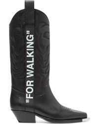 """Off-White c/o Virgil Abloh - """"for Walking"""" Cowboy Boots - Lyst"""