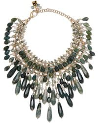 Rosantica - Rifugio Gold-tone Agate Necklace - Lyst