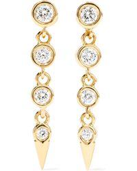 Jemma Wynne - 18-karat Gold Diamond Earrings Gold One Size - Lyst
