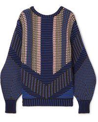 Peter Pilotto - Cotton-blend Jacquard Sweater - Lyst