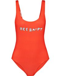 Ganni - Profilic Printed Swimsuit - Lyst