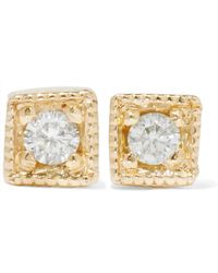 Jennie Kwon - Mini Square 14-karat Gold Diamond Earrings - Lyst