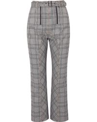 Self-Portrait - Cropped Checked Tweed Straight-leg Pants - Lyst
