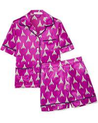 Olivia Von Halle | Millicent Printed Silk-satin Pyjama Set | Lyst