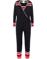 Madeleine Thompson | Famingo Striped Cashmere Onesie | Lyst