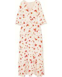 Vilshenko - Elizabeth Floral-print Crepe De Chine Maxi Dress - Lyst
