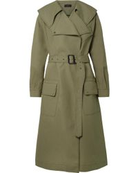 JOSEPH - Damon Oversized Cotton-garbardine Trench Coat - Lyst