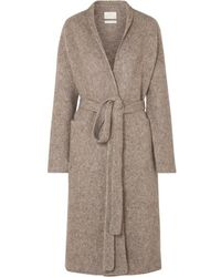 Lauren Manoogian Belted Mélange Knitted Coat - Brown