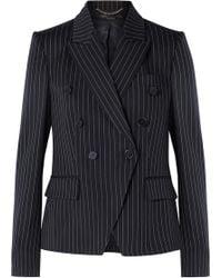 Stella McCartney - Double-breasted Pinstriped Wool-blend Blazer - Lyst