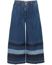 Sonia Rykiel   Striped Cropped Mid-rise Wide-leg Jeans   Lyst