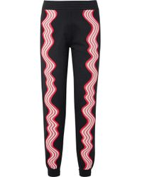 House of Holland - Appliquéd Cotton-terry Track Trousers - Lyst