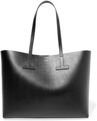 Tom Ford - T Textured-leather Tote - Lyst