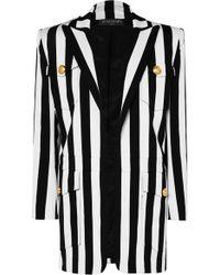 Balmain - Striped Cotton-blend Blazer - Lyst