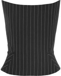 Gareth Pugh - Pinstriped Wool-blend Bustier Top - Lyst