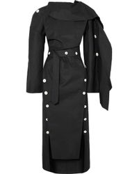 Awake - Structured Buttoned Dress - Lyst