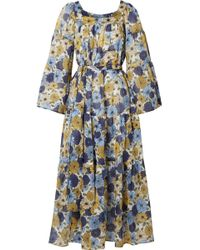 Lisa Marie Fernandez - Floral-print Cotton-voile Dress - Lyst