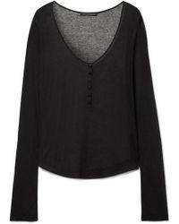 Kiki de Montparnasse - Ribbed Modal And Cashmere-blend Top - Lyst