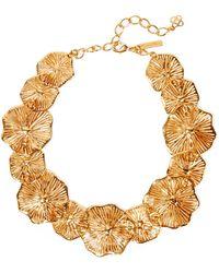 Oscar de la Renta - Gold-plated Necklace Gold One Size - Lyst