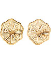 Oscar de la Renta - Gold-plated Earrings - Lyst