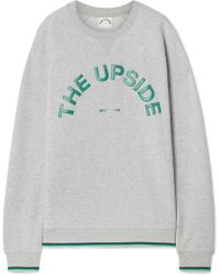 The Upside - Sid Printed Cotton-jersey Sweatshirt - Lyst