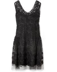 Miu Miu - Embroidered Cotton-blend Lace Dress - Lyst