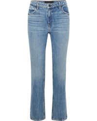 Alexander Wang - Cult Cropped High-rise Straight-leg Jeans - Lyst
