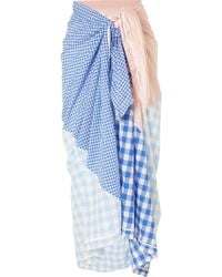 Marysia Swim - Picnic Gingham And Cotton-blend Pareo - Lyst