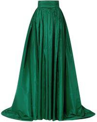 Carolina Herrera - Pleated Silk-satin Maxi Skirt - Lyst