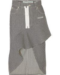 Off-White c/o Virgil Abloh - Asymmetric Striped Denim Skirt - Lyst