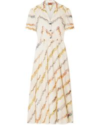 0c41634441bc Lyst - M Missoni Crochet-Knit Maxi Dress in Yellow