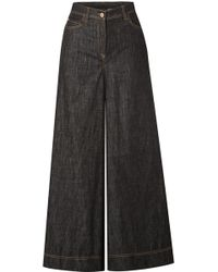 Brunello Cucinelli - High-rise Wide-leg Jeans - Lyst