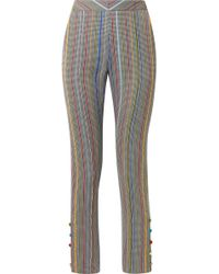 Rosie Assoulin - Oboe Wool And Silk-blend Jacquard Slim-leg Pants - Lyst