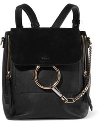 Chloé - Faye Small Leather And Suede Backpack - Lyst