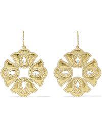 Amrapali - Kaliyana Lotus 18-karat Gold, Topaz And Diamond Earrings - Lyst